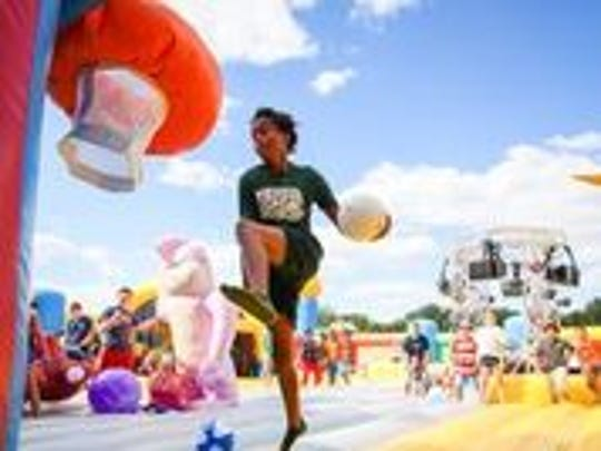 """The """"world's largest bounce house"""" comes to Tallahassee the weekend of Nov. 3."""