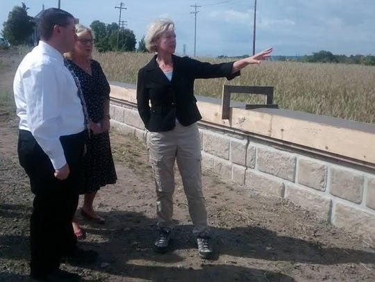 U.S. Sen. Tammy Baldwin, D-Wis., right, tours Wausau's
