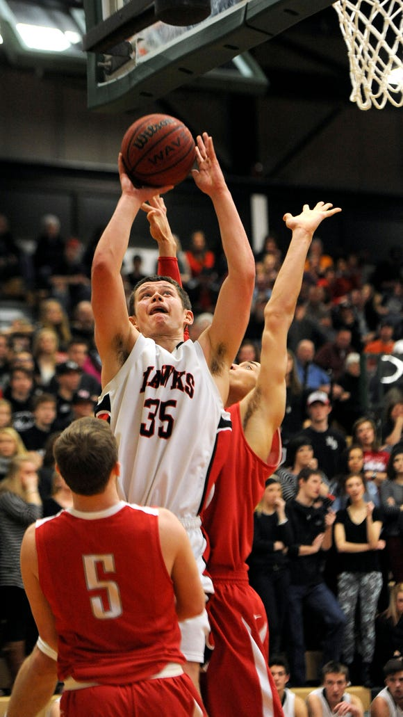 Brennan Hockaday (35) is the top returning scorer for the North Buncombe boys basketball team.
