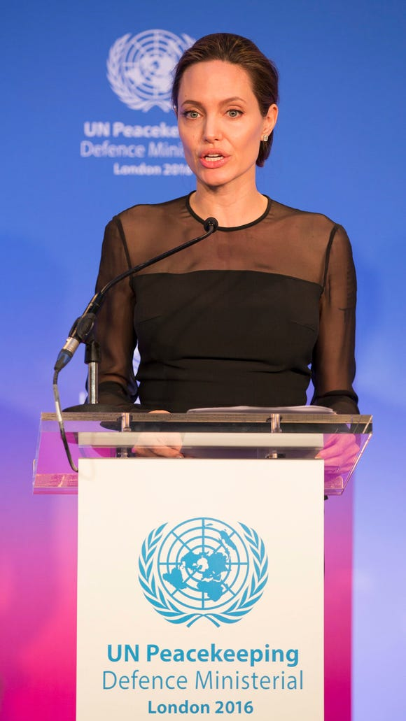 Jolie delivered a speech during the United Nations