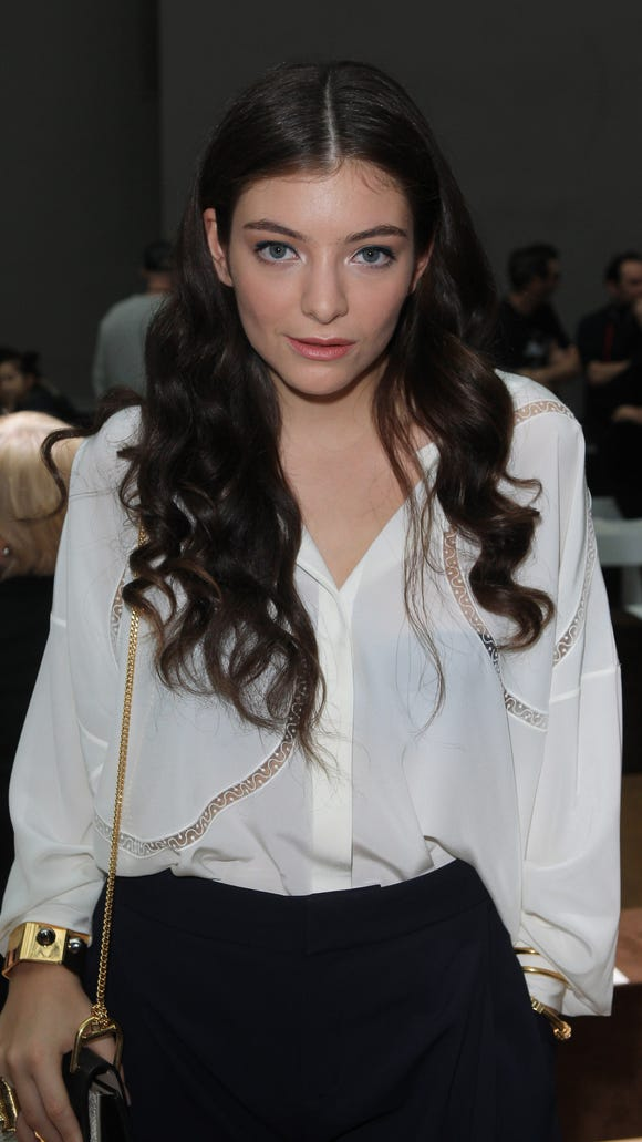 Lorde at Paris Fashion Week in 2015. The singer spent