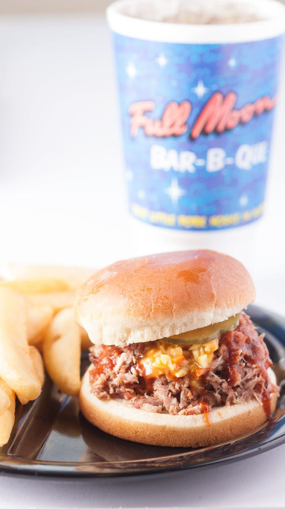 Full Moon specializes in Southern-style barbecue.