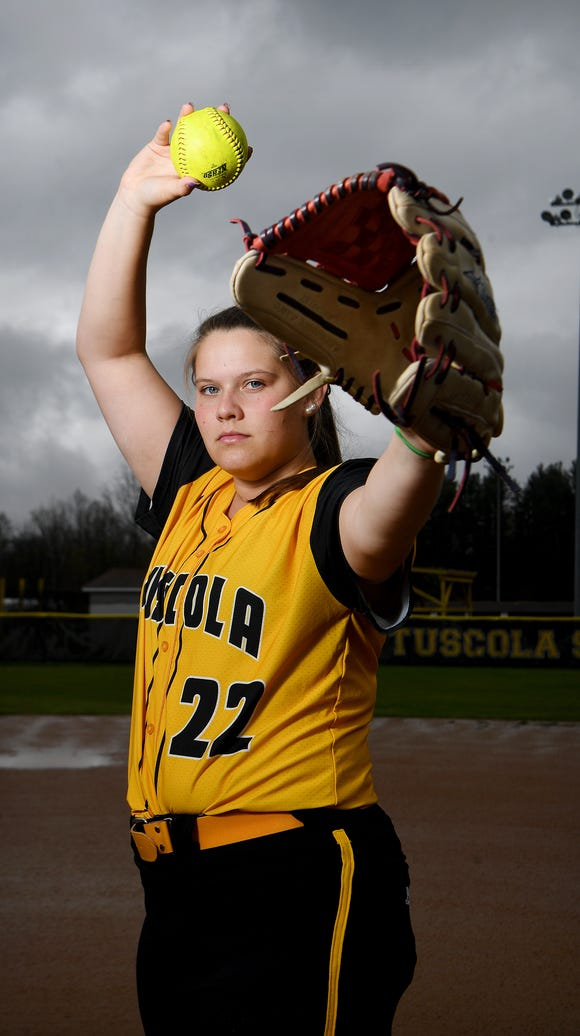 Tuscola senior pitcher Jordan Kielson has struck out