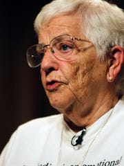 Jane Elliott, is interviewed on Friday, Sept. 22, 2017 at the Pfister Hotel in downtown Milwaukee. Elliot, a white retired elementary school teacher from Iowa, was deeply hurt after the assassination of Dr. Martin Luther King Jr. She was disappointed at the direction the country was going in and she wanted to address racism, so she came up with the blue eyed/brown eyed experiment.
