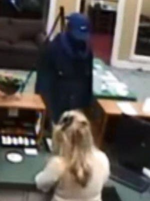 Hendersonville Police are looking for this suspect in the Capitol Bank Robbery.