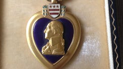 Rudy Dieffenbach's Purple Heart.