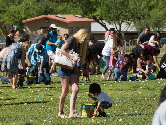 Hundreds of children and their parents attended the 2017 Springfest at Young Park, Saturday, April 15, 2017. The event included a massive egg hunt said to be the greatest egg hunt in the southwest, the egg hunt had different times for different age groups allowing as many kids to participate as possible.