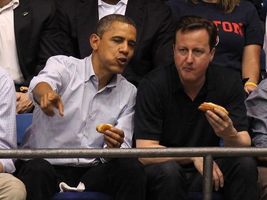 U.S. President Barack Obama (L) and British Prime Minister