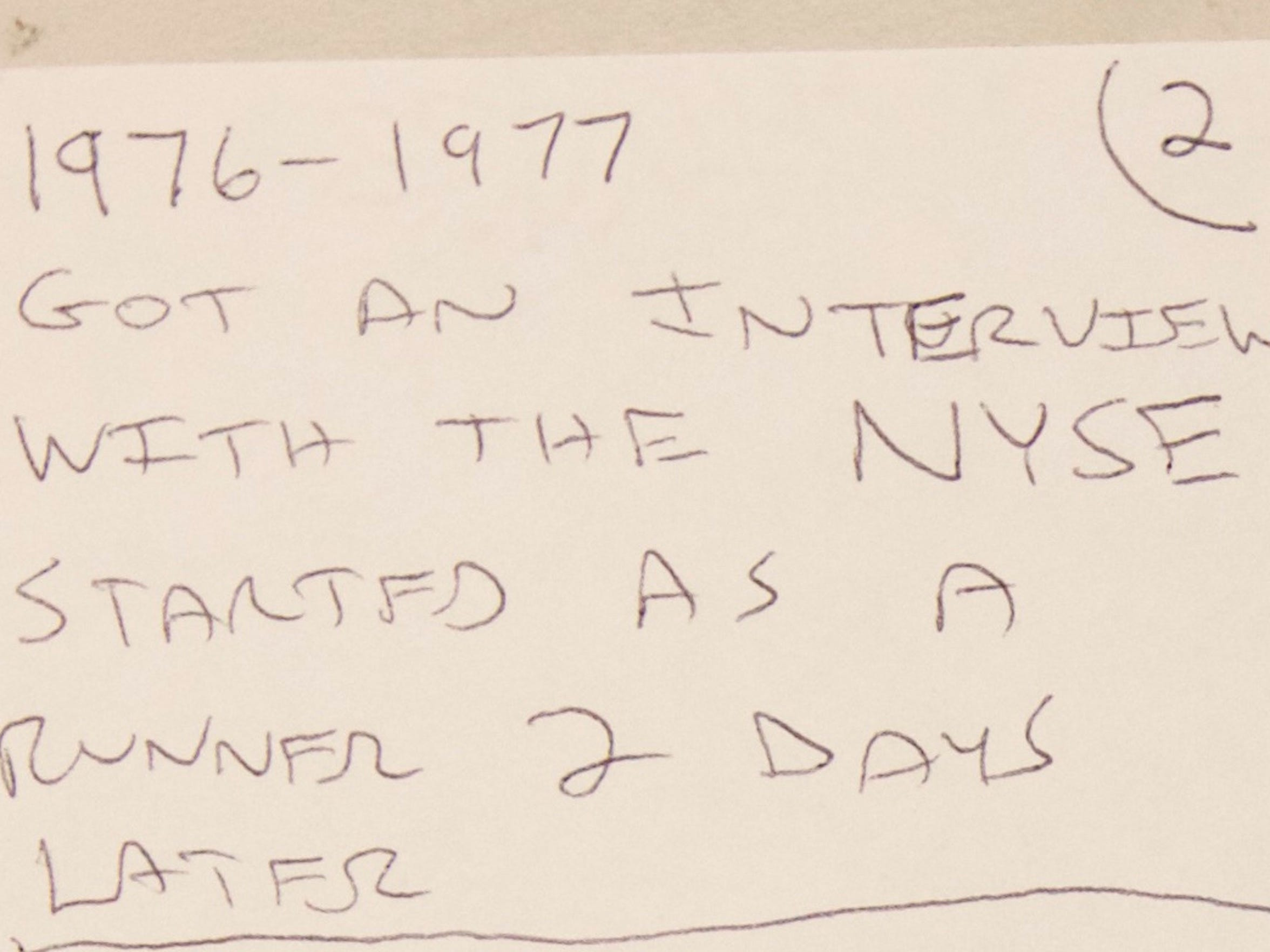 A letter from Spina shows when he got an interview