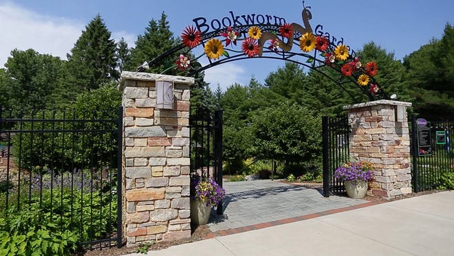 The entrance to Bookworm Gardens Wednesday July 5, 2017 in Sheboygan, Wis.