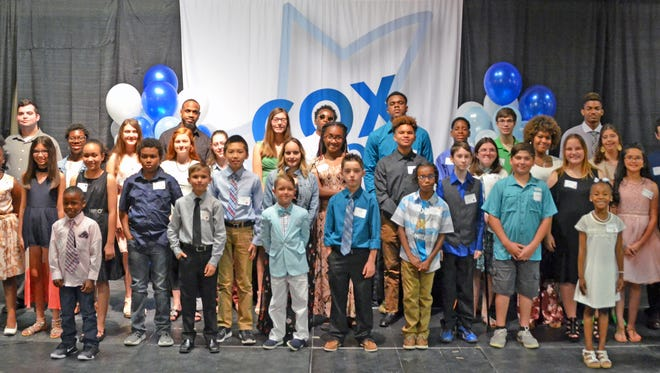 Cox honored 47 Acadiana pre-k through 12 studentsfor outstanding achievement in the face of adversity during the 8th Annual Cox Inspirational Heroes Awards & Recognition ceremony Tuesday at River Oaks.
