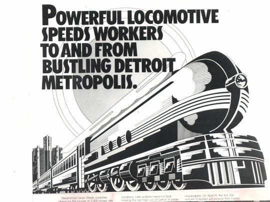 Semta came out with flashy new ads in April 1983 but they didn't lure enough new passengers to make the commuters runs profitable.