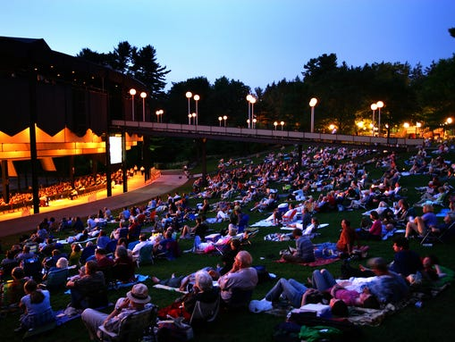 The 25,000-seat Saratoga Performing Arts Center was