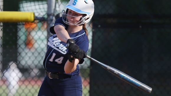 Suffern catcher Erika Witt, pictured here during a playoff game against Yorktown at Yorktown High School on May 23, is a first-team all-star honoree.