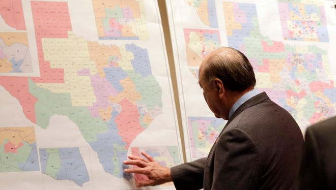 Texas redistricting maps in 2013.