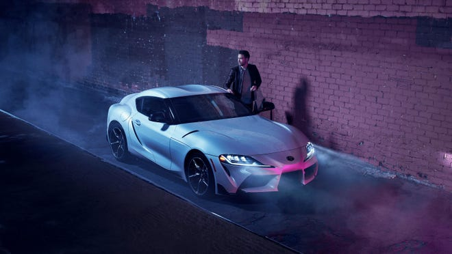 The 2021 Toyota GR Supra 3.0 has a 3.0-liter six-cylinder, turbocharged engine with 382 hp and 368 lb-ft torque.