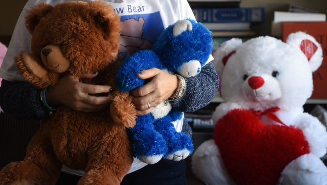Rabbi Claire Ginsburg Goldstein, founder of Bears from Bergenfield, aims to build bridges by distributing toys to Jewish, Muslim and Christian children in the Middle East.