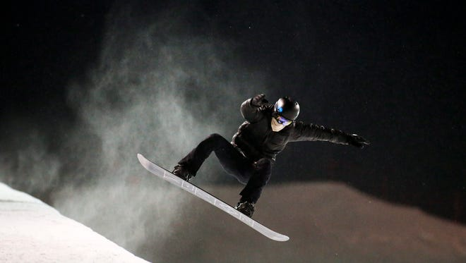 Olympic snowboarder Shaun White trains at Canada Olympic Park, in Calgary, Alberta,  on Jan. 7, 2016.