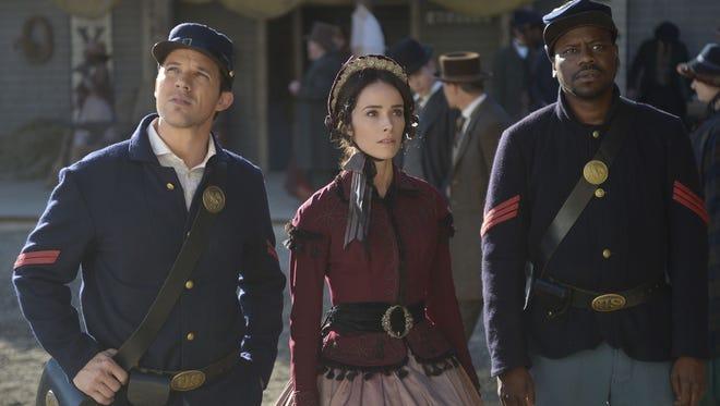 Matt Lanter, Abigail Spencer and Malcolm Barrett play time-traveling heroes in 'Timeless.'