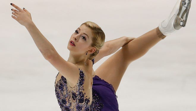Gracie Gold of the United States performs during the womenís free skating of the NHK Trophy figure skating in Osaka, western Japan, Saturday.