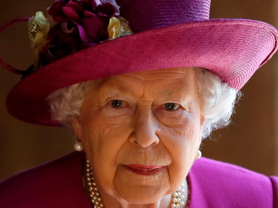 Queen Elizabeth II at Westminster Abbey after visiting