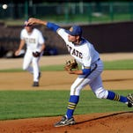 Blake Treinen, seen pitching for South Dakota State in May 2011, has been called up by the Washington Nationals of the MLB. Treinen becomes just the second Jackrabbit to reach the major league level, after Caleb Thielbar.