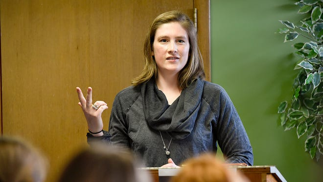 Three-time WNBA champion and Olympic basketball player Lindsay Whalen of the Minnesota Lynx spoke to a group of young women Tuesday, April 19, about passion, perseverance and preparation.