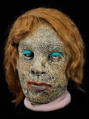"Tom Bartel, ""Drag Mask,"" ceramic, nylon stocking, human"