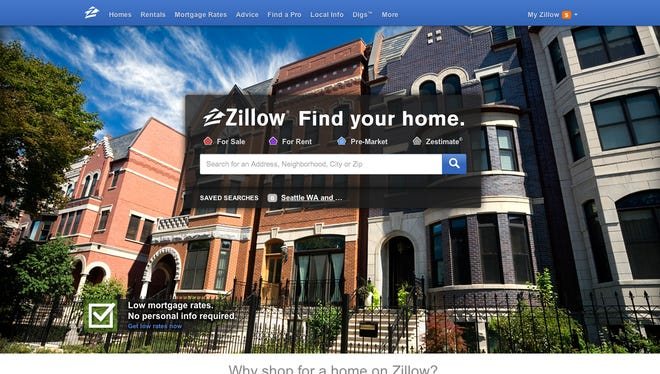 Zillow's homepage.