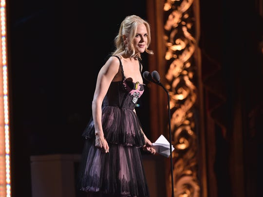 Nicole Kidman speaks onstage at Glamour's 2017 Women of The Year Awards at Kings Theatre on November 13, 2017 in Brooklyn, New York.