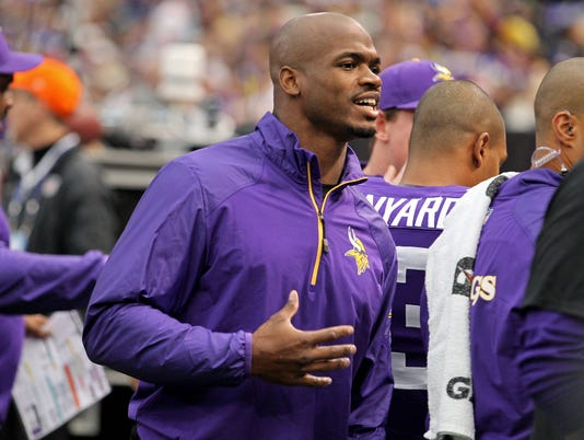 Armour: Adrian Peterson waits on NFL, and game suffers