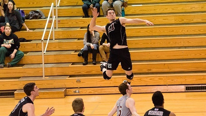 Irondequoit graduate Tim Ferriter, a senior outside hitter, will try to help Stevens College repeat as NCAA Division III volleyball championships this weekend at Nazareth College.