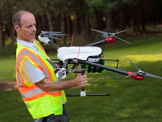 Martin Lachance, Mendon, owner operator of UAV Imaging