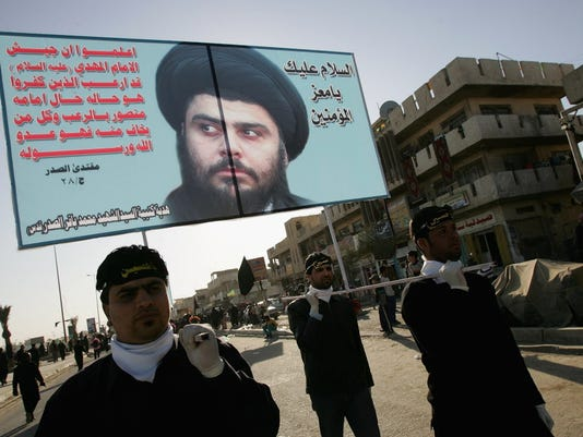 GTY MOQTADA AL-SADR SUPPORTERS RALLY AHEAD OF CEASEFIRE DEADLINE I WAR IRQ