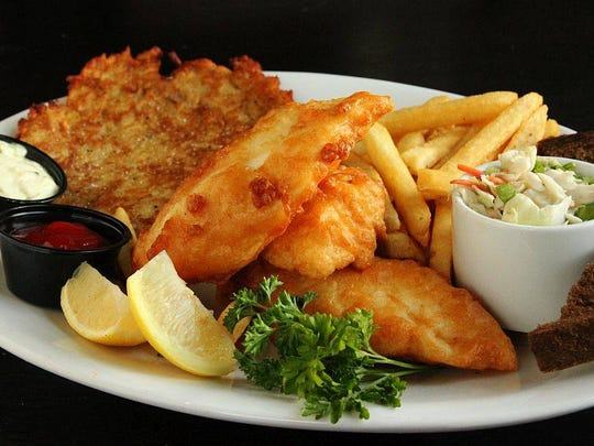 The fish fry is among the most popular items on the menu on a Friday night at the Bavarian Bierhaus.