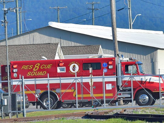 An explosion was reported at around 7 a.m. Thursday morning, July 19, 2018 at Letterkenny Army Depot, in Chambersburg, Pa. A small explosion Thursday in a vehicle shop at the Army depot injured at least four workers, three of them seriously, officials said. (Markell DeLoatch/Public Opinion via AP)