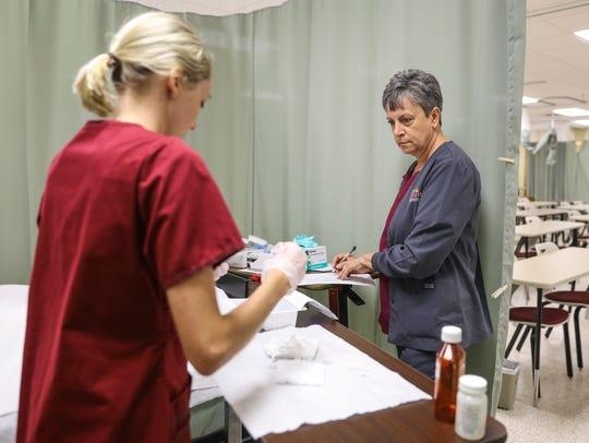 University of Louisiana at Monroe nursing students