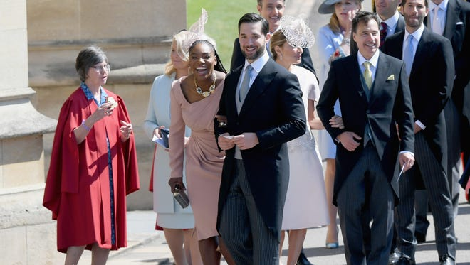 Serena Williams and Alexis Ohanian attend the wedding of Prince Harry to Ms Meghan Markle at St George's Chapel, Windsor Castle on May 19 in Windsor, England.