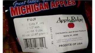 Some Apple Ridge apples have been recalled.
