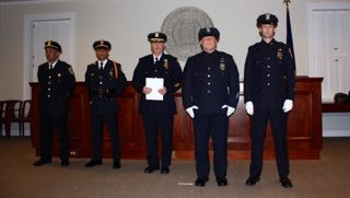 Bedford Police officers were honored at the department's annual awards ceremony Wednesday, May 14, 2014.