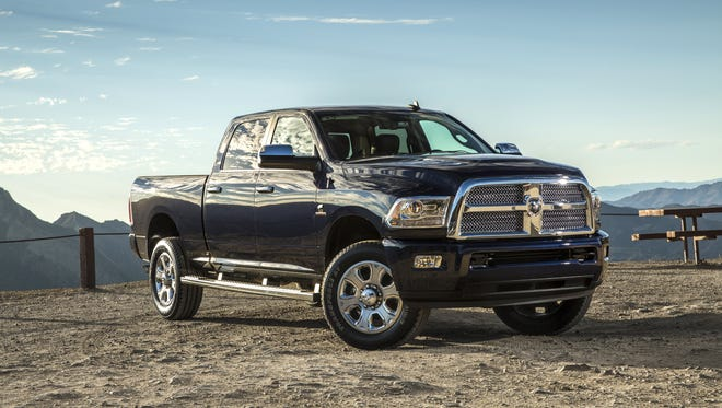 This 2014 Ram 2500 diesel is among the trucks at issue in a class action suit filed Monday against Fiat Chrysler and Cummins alleging they misled buyers on the trucks emissions.