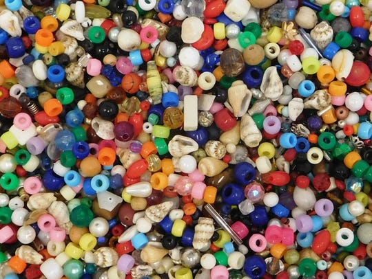 Beads used to make the Nick Cave inspired sound suits.
