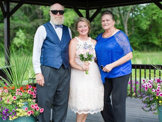 From left; Gary ''Bonz,' Saddlemire, his daughter, Erin Saddlemire VaNnosdall, and Erin's mother Diane Shea.