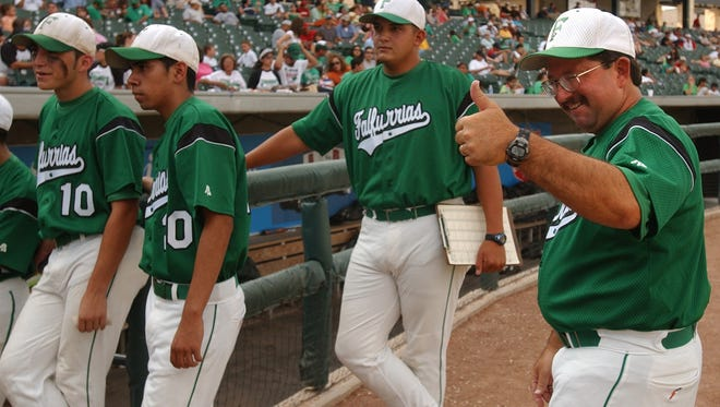 Falfurrias baseball coach David Salinas, seen here during the 2006 Class 3A state tournament, will receive the Lifetime Achievement Award at the South Texas Winter Baseball Banquet on Jan. 26.