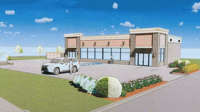 The Streetsboro Planning and Zoning Commission approved the site plan for this proposed butcher shop, which would be located at the former location of the Shell gas station at the corner of routes 14 and 303.
