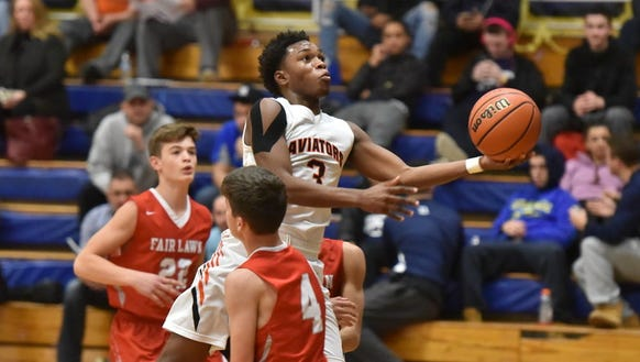 Anthony Palmer (3) and Hasbrouck Heights are tied for
