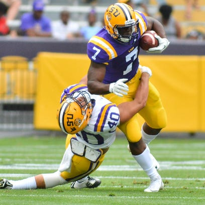 Leonard Fournette (7) returns to lead the LSU Tigers' running game.