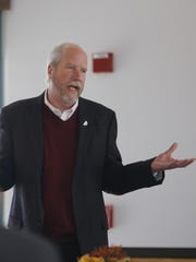 Four Corners Economic Development board chairman Clifton Horace discussed economic issues during the group's membership meeting Thursday at San Juan College.