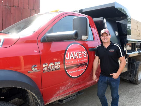 Jake Warner, president of Jake's Property Services in Granville, stated mowing lawns when he was 10 or 12 and that early job gradually grew into a business 12 full-time workers and another dozen when needed.