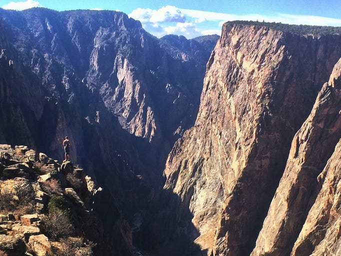 Black Canyon of the Gunnison Park is a darkly dramatic